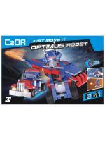 Конструктор робот-трансформер синій з інерційним механізмом 2 в 1 251 дет. С52019W