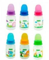 Baby Team Пляшечка з силіконовою соскою 125мл 0м + 1110