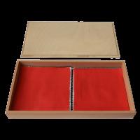 Ящик із зразками (парами) матеріалів тканини