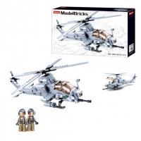 Конструктор SLUBAN вертоліт M38-B0838 482 деталей