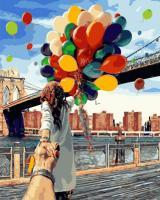 Картина по номерах Йди за мною Бруклінський міст (GX4371) 40 х 50 см