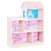 Поличка-будиночок HB-305-1-2 стелаж, 96х117х34 см, рожево-біла, єдиноріг