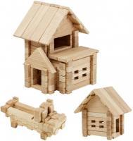 Дерев'яний конструктор Ігротеко Будиночок з гаражем 75 деталей (900118)