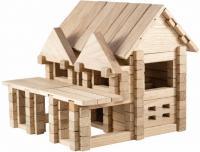 Дерев'яний конструктор Ігротеко Будиночок з балконом 136 деталей (900248)