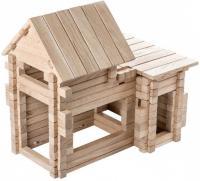 Дерев'яна яний конструктор Ігротеко Котедж 4 в 1. 206 деталей