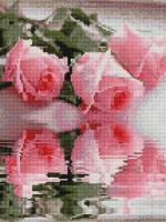 Алмазна мозаїка Відображення троянд, 30x40 (EJ454)