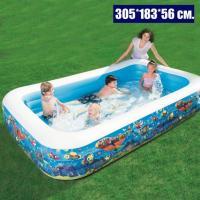 Великий басейн надувний сімейний 305 * 183 * 56 см. Bestway 54121