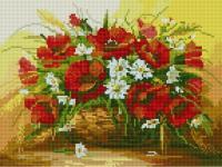Алмазна мозаїка Кошик польових квітів, 30x40 (EJ232)