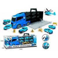 Фура, автовоз, трейлер 666-10K, вантажівка з машинками 6 шт
