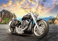 Пазли Trefl - Чорний мотоцикл 500 елементів (37384)