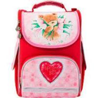 Рюкзак шкільний каркасний KITE 501 Popcorn Bear-2 PO17-501S-2 червоний