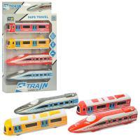Набір транспорту 868-1D поїзд-локомотив 4шт, 18см