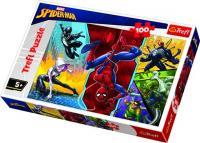 Пазли Trefl Спайдермен. Догори ногами, Disney Marvel Spiderman, 100 елементів (16347)