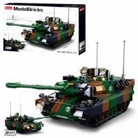 Конструктор SLUBAN Танк леопард M38-B0839