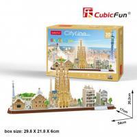 """CubicFun. Тривимірна головоломка-конструктор 3D пазл """"CITY LINE BARCELONA"""" (МС256h)"""