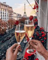 Картина за номерами Келихи Парижа з ягодами (GX25427)