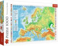 Пазли Trefl - Фізична карта Європи 1000 елементів (10605)