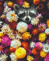 Картина за номерами Нікітошка Єнотик в кольорах 40 * 50 см GX34614