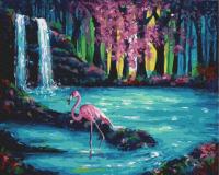 "КАРТИНА ЗА НОМЕРАМИ. ""Фламінго буля водоспад"" GX30193-RA RAINBOW ART"