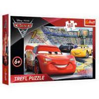 """Пазл """"Тачки-3. Тисни на газ"""", 160 елементів Trefl Disney Cars 3 (15339)"""