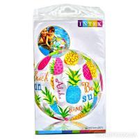 М'яч надувний різнобарвний діаметр 51 см (асорті 3 вида) INTEX 59040