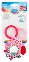 Іграшка-брязкальце Canpol Babies Zig Zag, рожевий  68/057