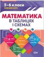 Таблиці та схеми. Математика 5-6 класи