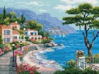 Алмазна мозаїка Rainbow Art Міська гавань (EJ868) 30 х 40 см (На підрамнику)