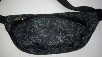 Чорна сумка-бананка для дітей з принтом