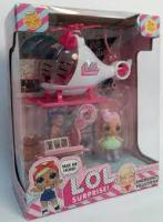 Ігровий набір Лялька ЛОЛ з вертольотом K5623
