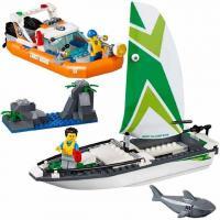 Конструктор 10752 Cities - операція з порятунку вітрильного човна (206 дет)
