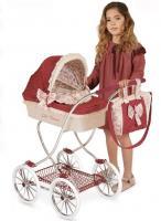 Коляска 80215 (4шт) для ляльки, класика,90-45-80см,корзина,валіза,подушка,кор.