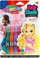 Олівці для волосся Colorino в блістері 5 стандартних відтінків (68659PTR)