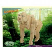Дерев'яні 3D пазли Горила (М021)
