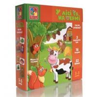 Гра на асоціації «У лісі та на фермі», Vladi Toys, VT1804-46
