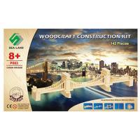 Конструктор P083 дерев'яні пазли 3D, міст, 143дет