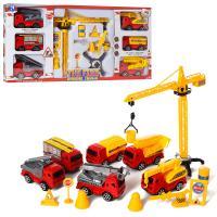 Набір транспорту: машинки 6шт, кран 9042