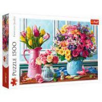 """Пазл """"Квіти у вазах"""", 1500 елементів Trefl (26157)"""