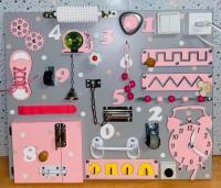 Бізіборд Стандарт Рожевий з сортером