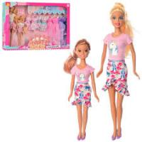 Лялька Defa Lucy 8447-BF з донькою і набором суконь