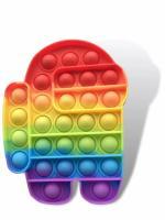 Іграшка антистрес POP IT Among Us, кольоровий