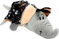 М'яка іграшка з паєтками 2 в 1 - ZooPrяtki - СЛОН-ТИГР (12 cm) (553IT-ZPR)