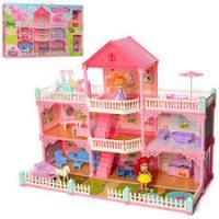 Ігровий Набір Будиночок для ляльок Jinxing VC6017 триповерховий з меблями + 2 ляльки