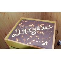 Стіл для малювання піском з ніжками біла підсвітка 1