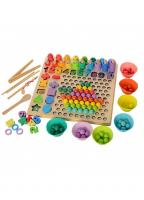 """Дерев'яна іграшка Мозаїка """"Кольорові кульки """"  Limo Toy MD 2514"""
