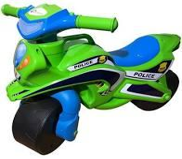 "Мотоцикл-каталка Doloni ""Байк Police"" музичний (зелений) 0139/52"