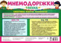 Мнемодоріжки Весна (Укр) Ранок
