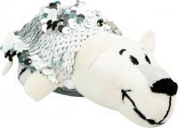 М'яка іграшка ZooPrяtki з паєтками 2 в 1 Хаскі-полярний ведмідь 12 см (558IT-ZPR)
