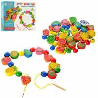Дерев'яна іграшка-Шнурівка Tree Toys MD 1009 фрукти, овочі, ягоди