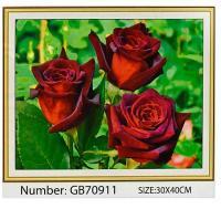 """Алмазна мозаїка 30х40 """"Червоні троянди"""" (GB70911)"""